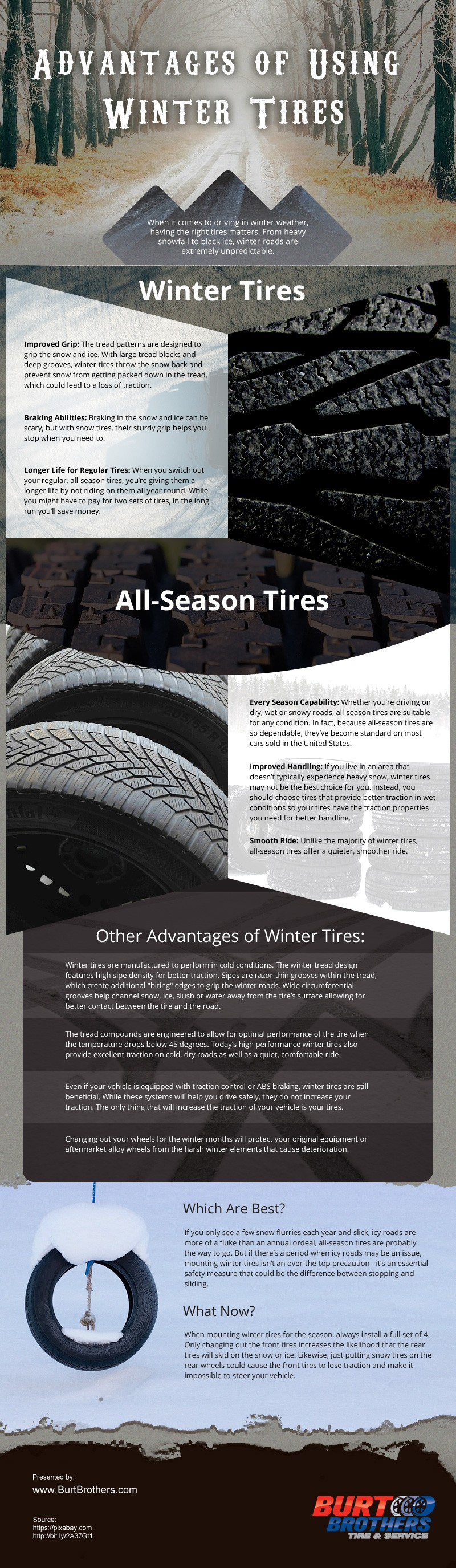 Advantages-of-Using-Winter-Tires Infographic