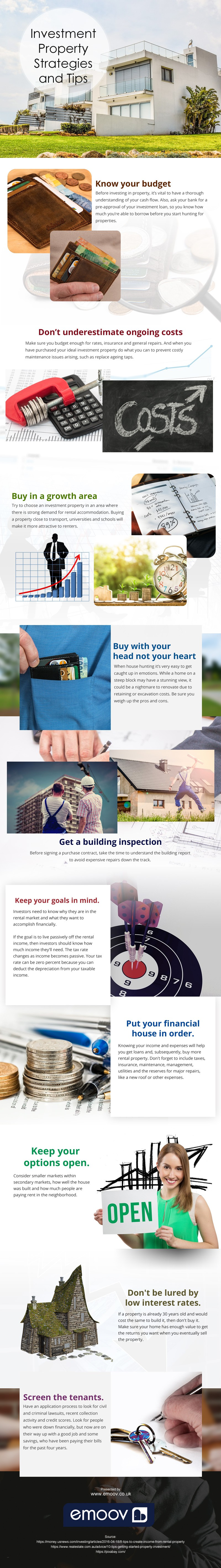 Investment-Property-Strategies-and-Tips Infographic