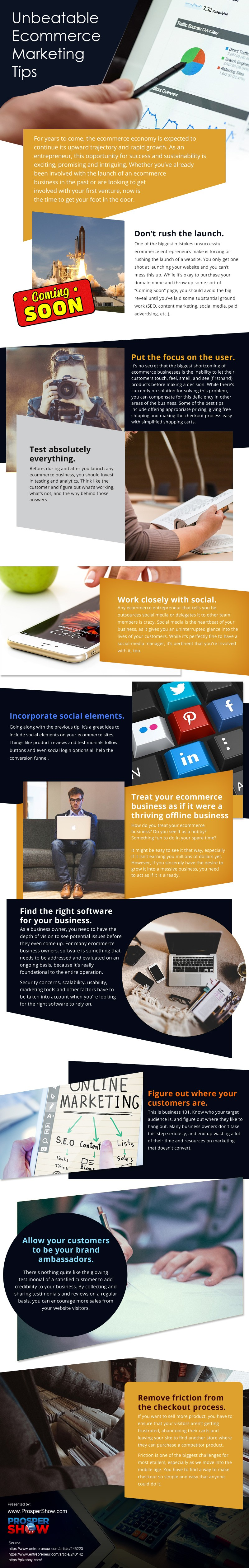 Unbeatable-Ecommerce-Marketing-Tips Infographic