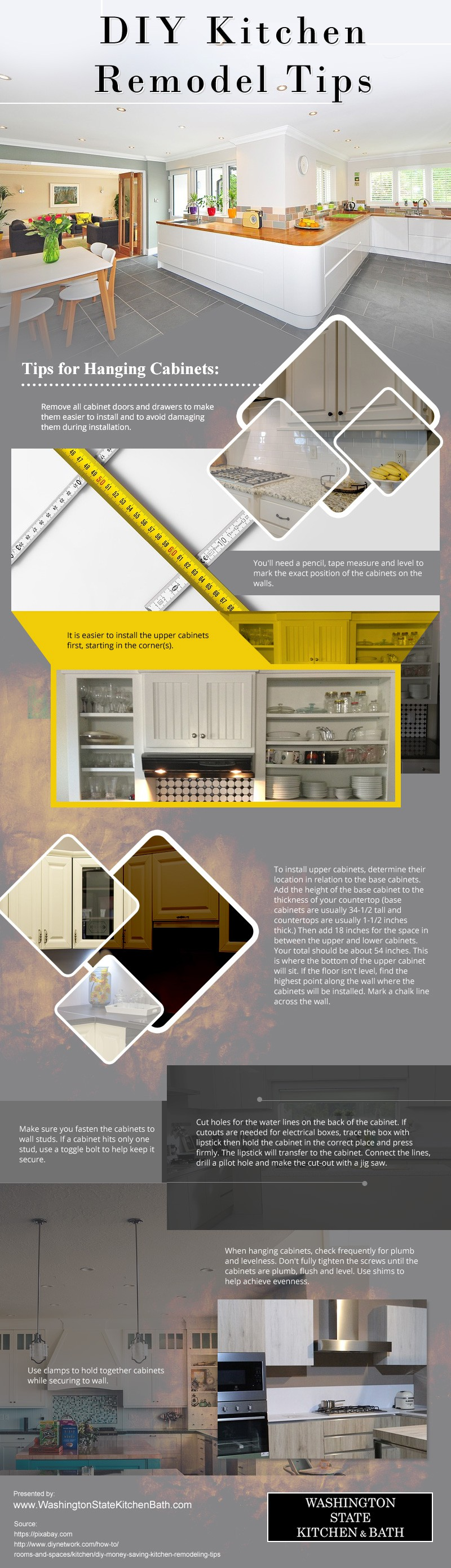 DIY-Kitchen-Remodel-Tips Infographic