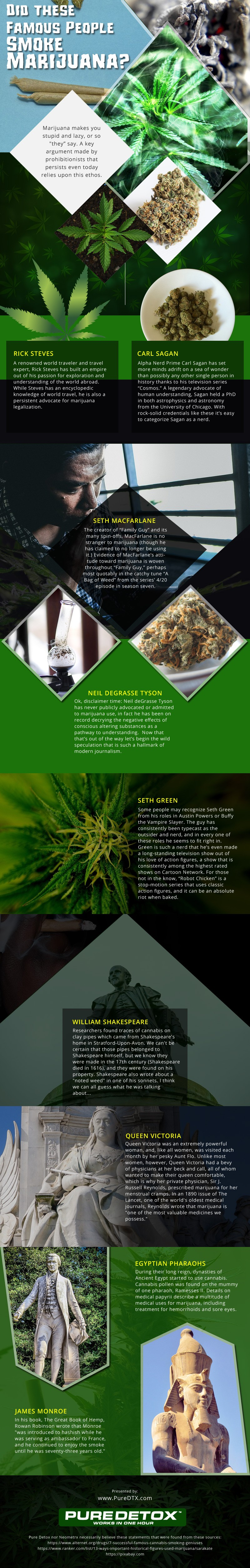 Famous-People-Who-Smoke-Marijuana Infographic