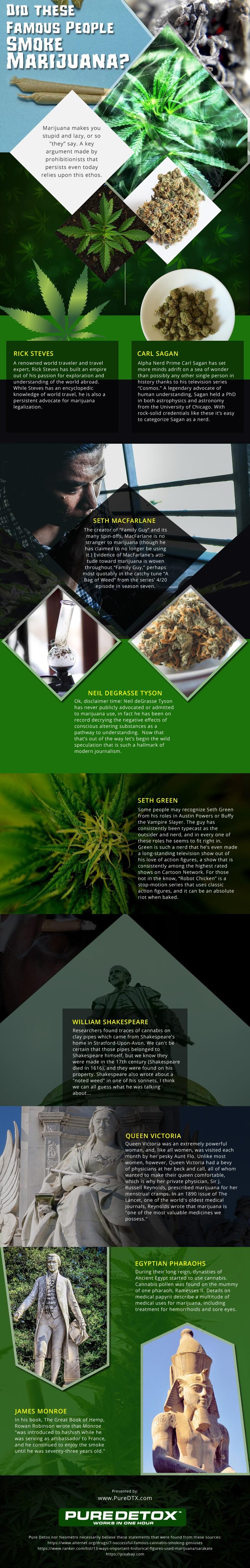 Famous-People-Who-Smoke-Marijuana Infographic