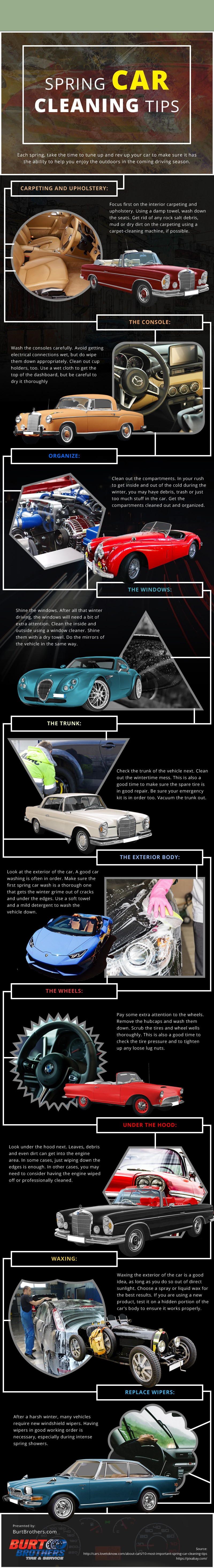 Spring-Car-Cleaning-Tips Infographic