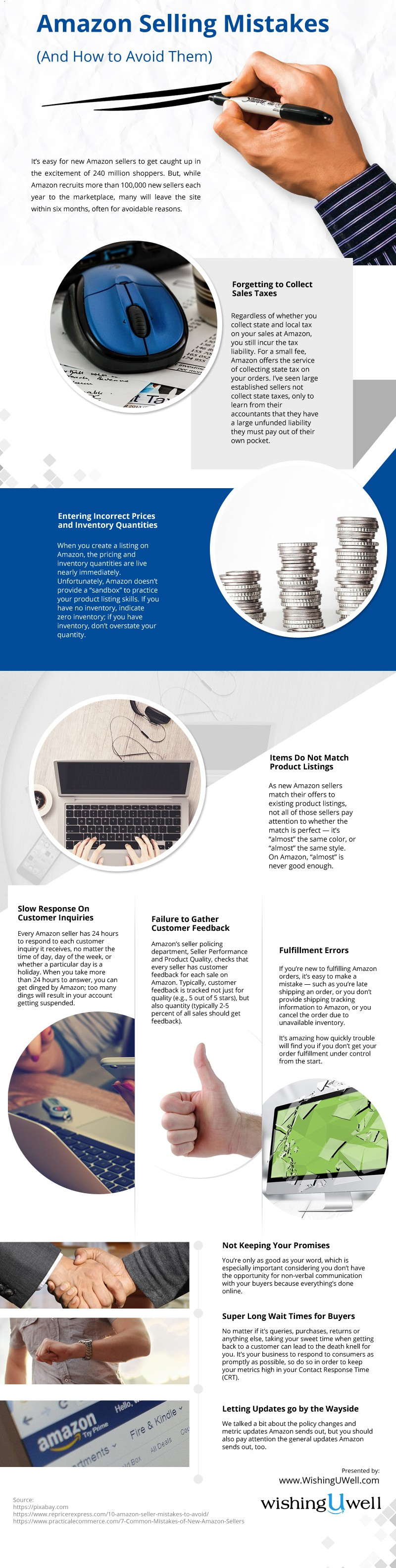 Amazon-Selling-Mistakes Infographic