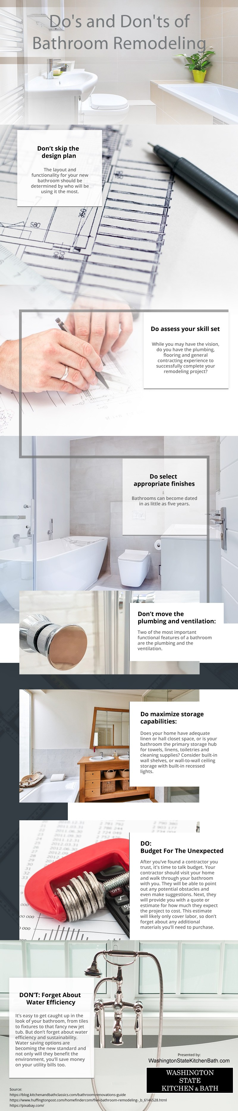 Do's and Don'ts of Bathroom Remodeling