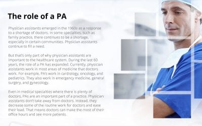 The Importance of Physician Assistants for American Healthcare