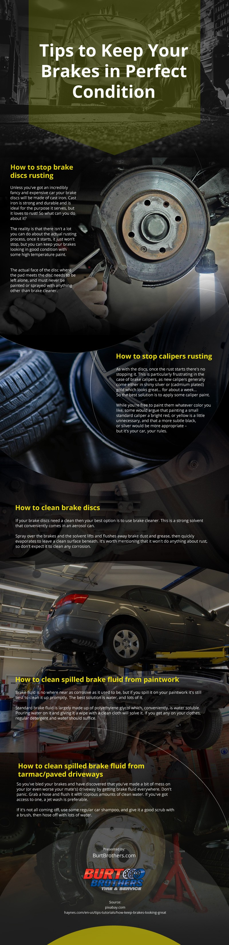 Tips to Keep Your Brakes in Perfect Condition Infographic