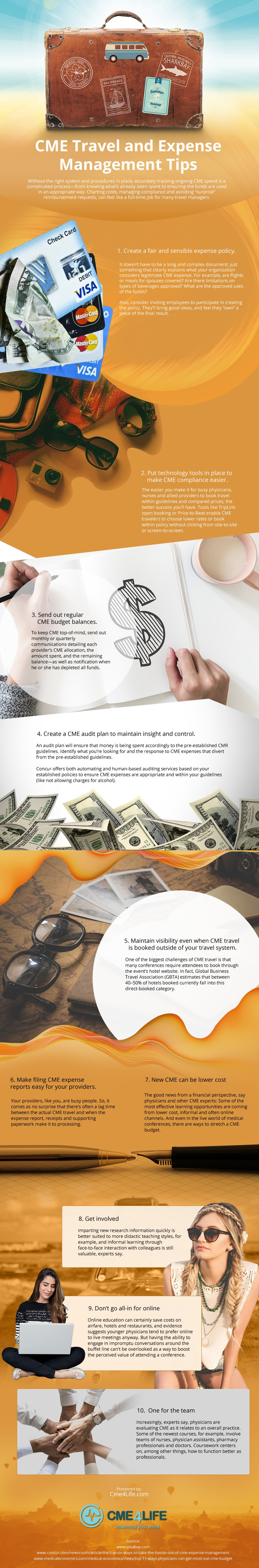 CME-Travel-and-Expense-Management-Tips Infographic