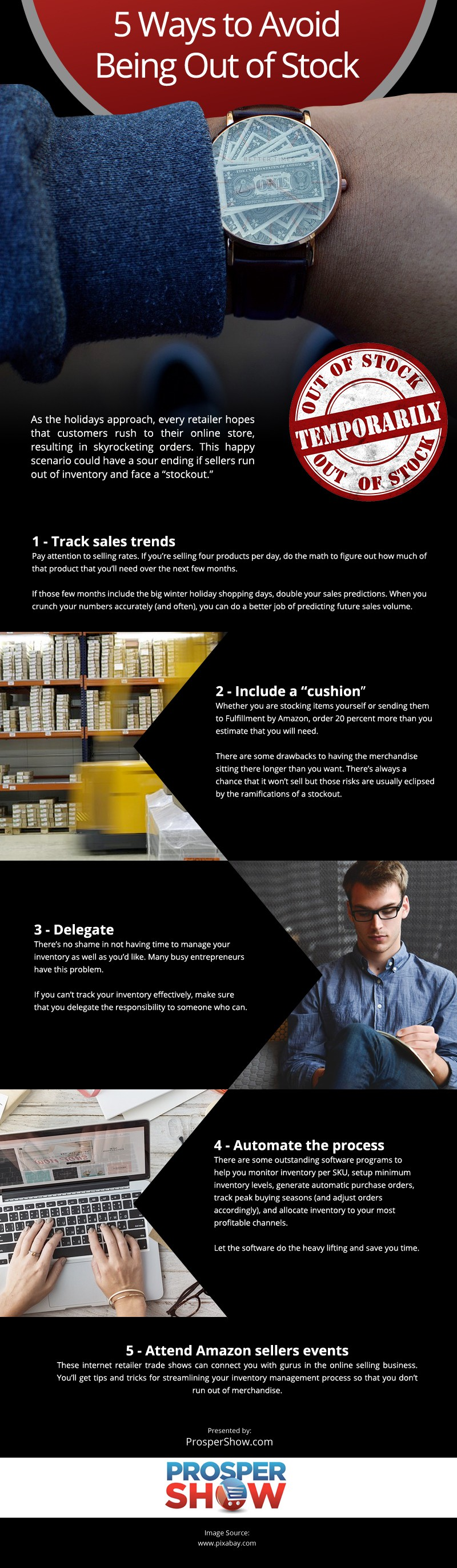 5 Ways to Avoid Being Out of Stock Infographic