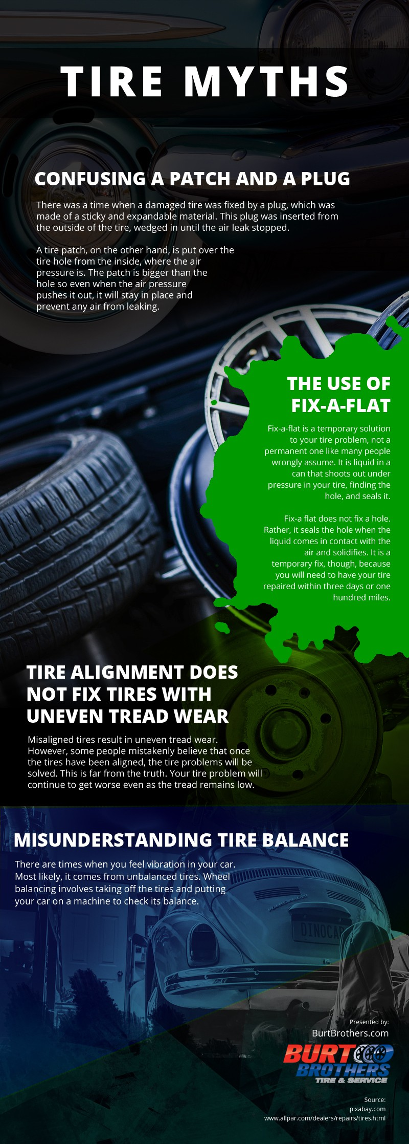 Tire Myths infographic