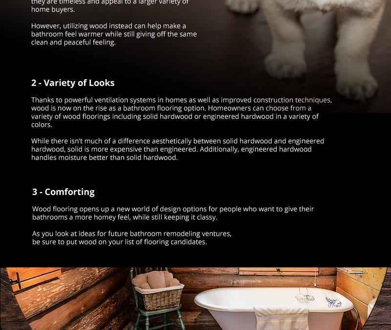 3 Benefits of Wood Flooring for Bathrooms