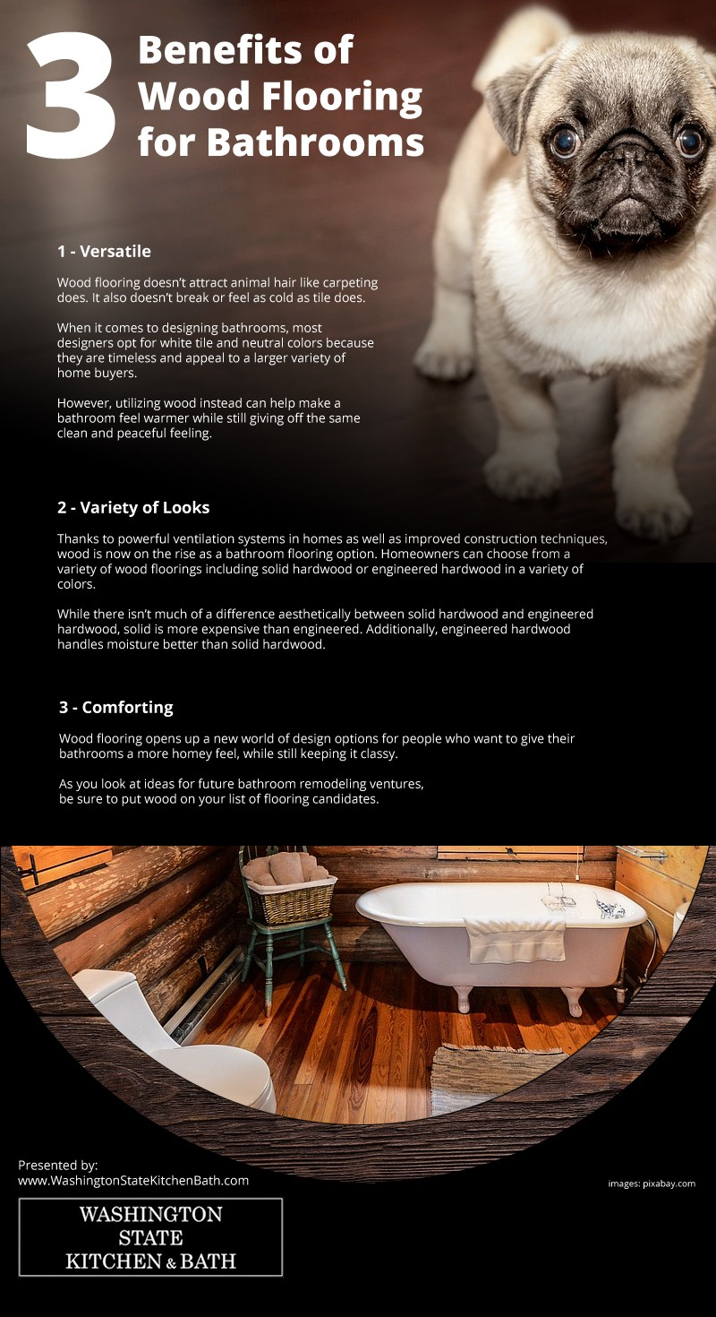 3 Benefits of Wood Flooring for Bathrooms Infographic