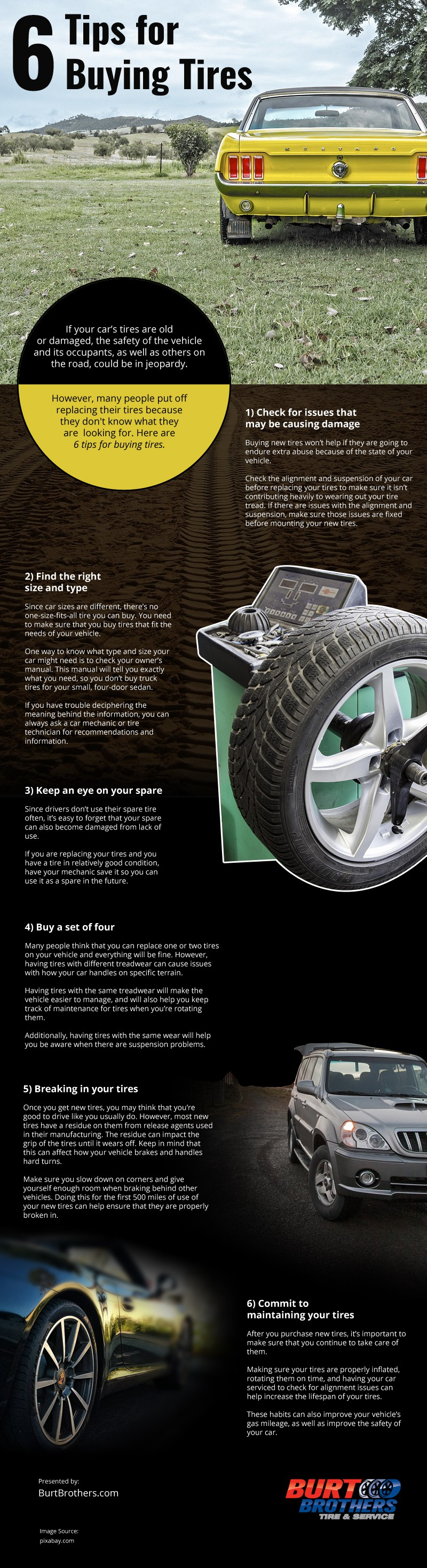 6 Tips for Buying Tires Infographic