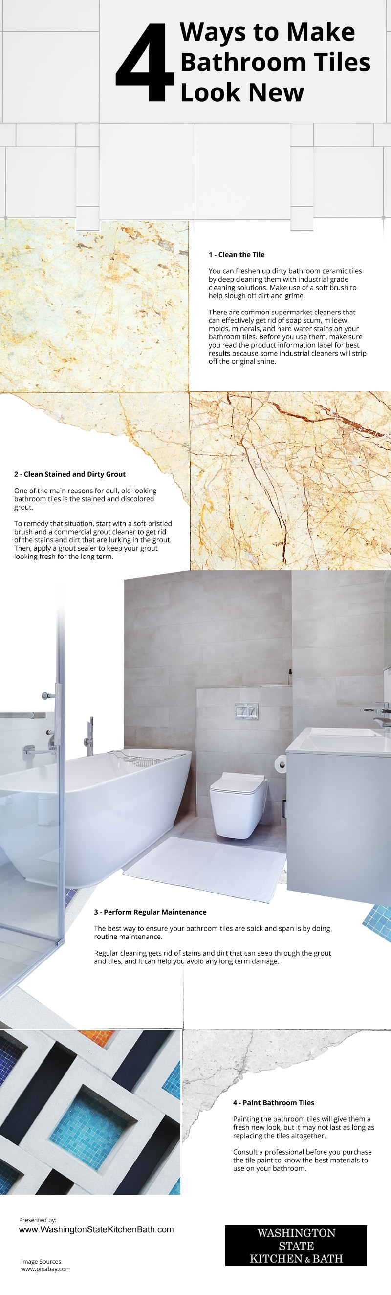 4 Ways to Make Bathroom Tiles Look New Infographic
