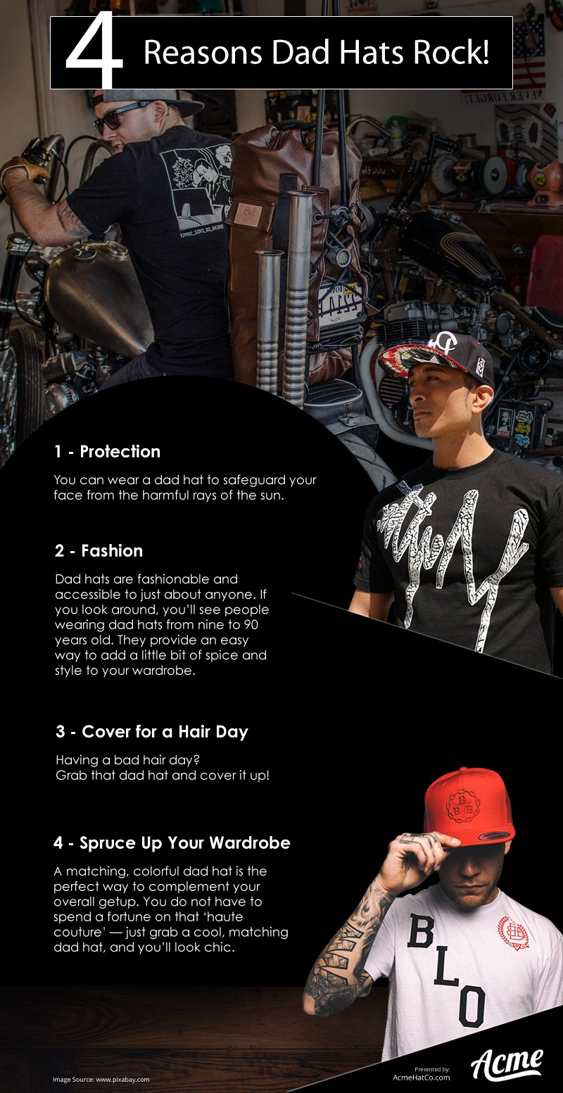 4 Reasons Dad Hats Rock Infographic