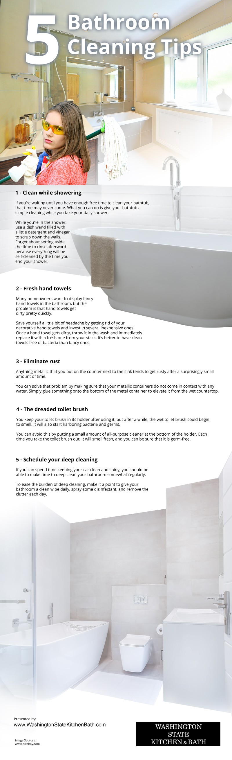 5 Bathroom Cleaning Tips