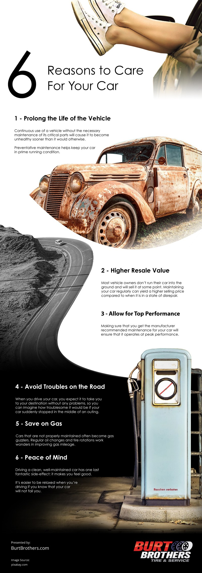 6 Reasons to Care for Your Car Infographic