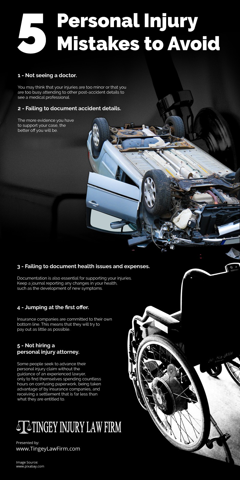 5 Personal Injury Mistakes to Avoid Infographic