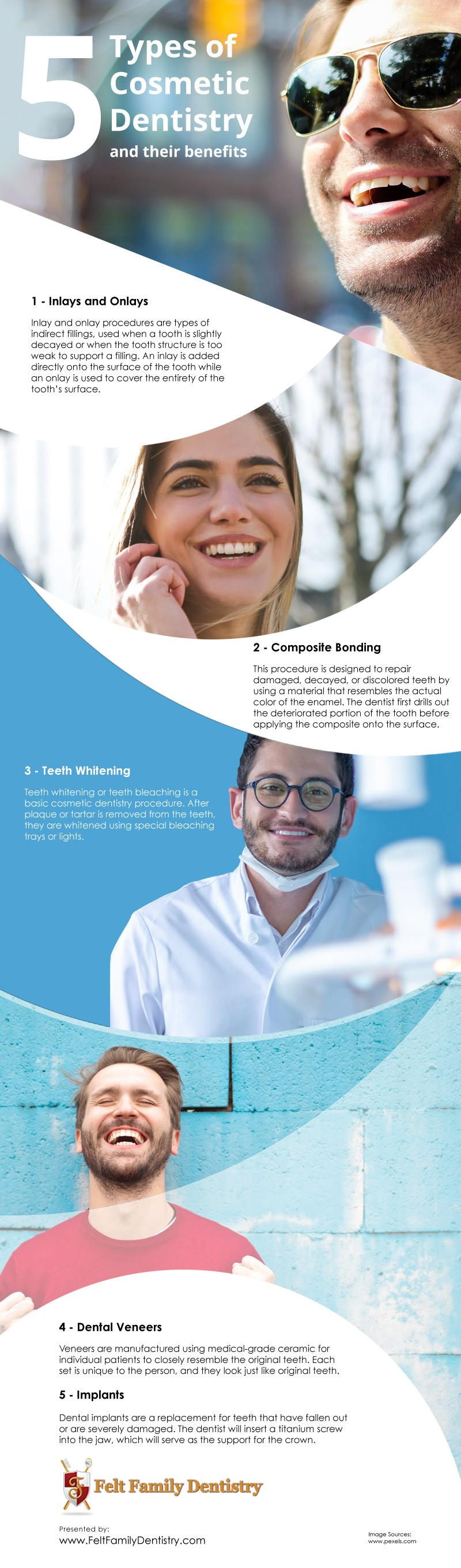 5 Types of Cosmetic Dentistry and their Benefits