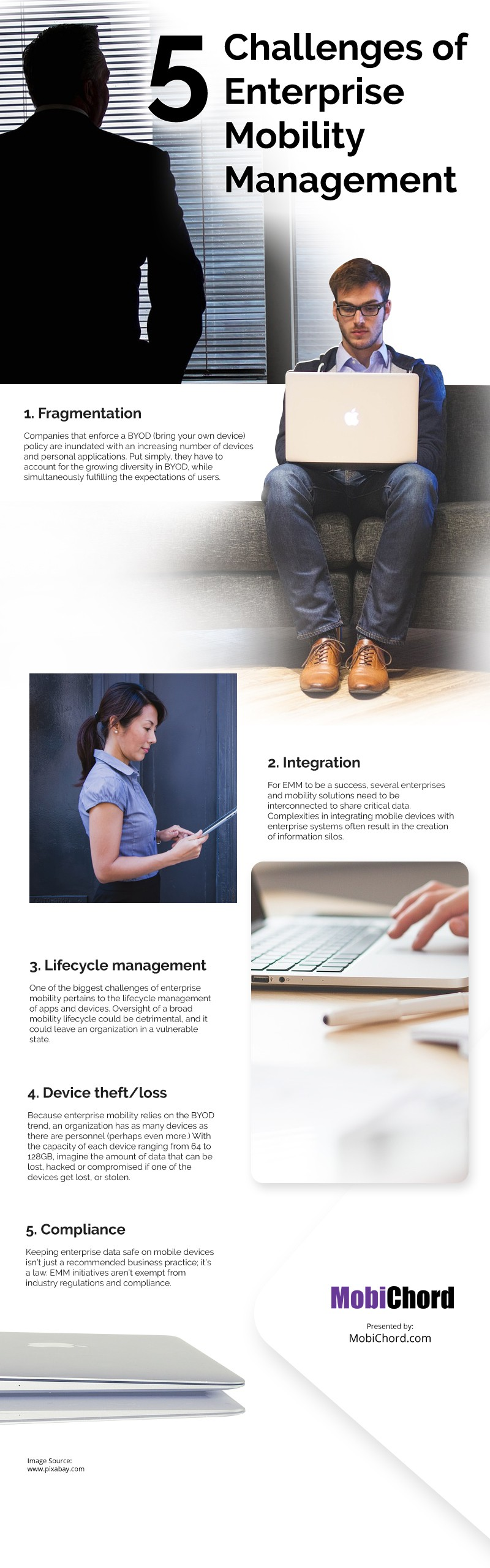 5 Challenges of Enterprise Mobility Management Infographic
