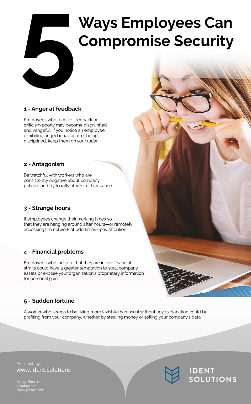 5 Ways Employees Can Compromise Security Infographic