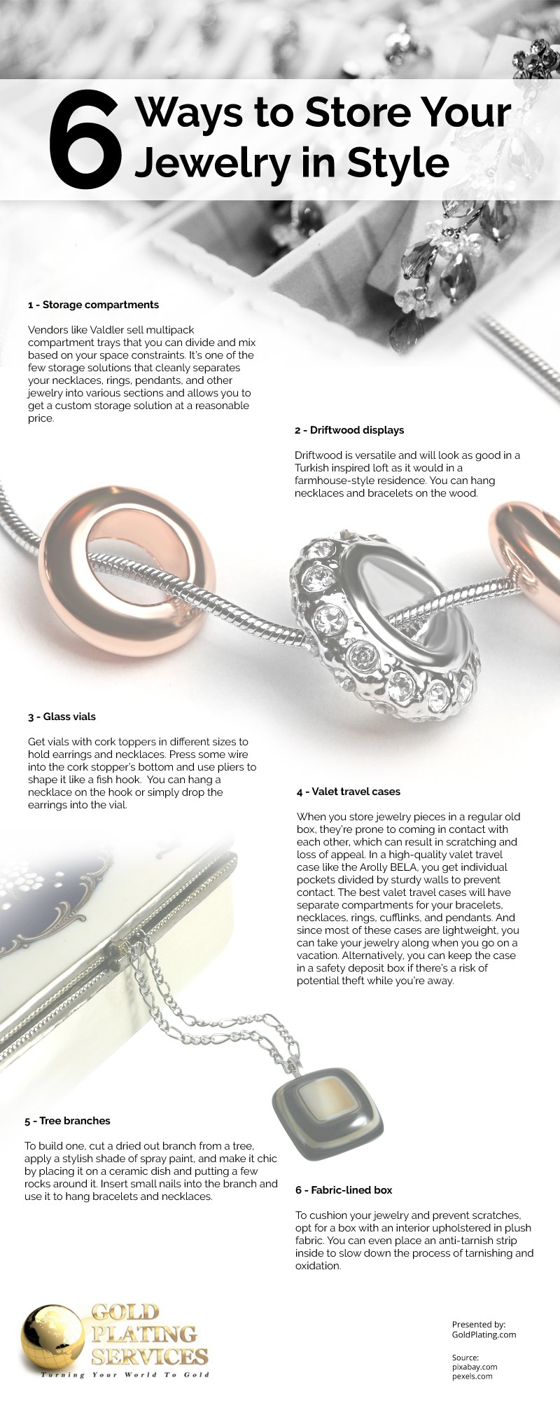 6 Ways to Store Your Jewelry in Style Infographic