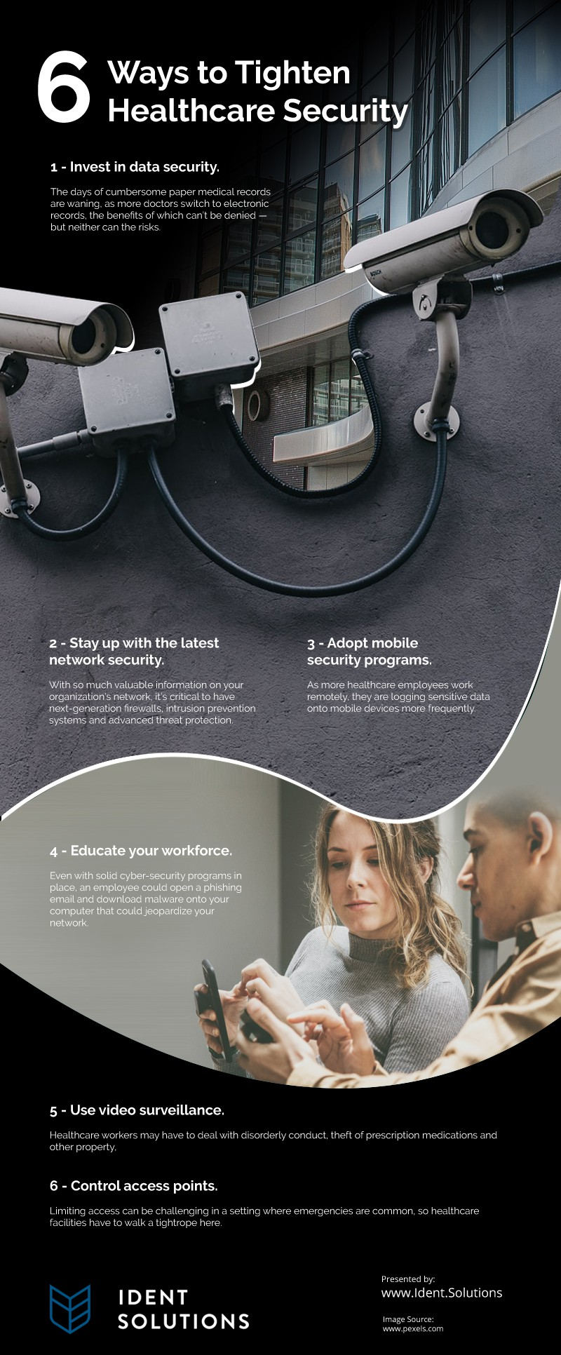 6 Ways to Tighten Healthcare Security Infographic