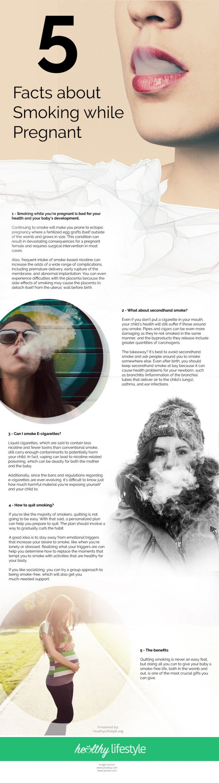 5 Facts about Smoking while Pregnant Infographic