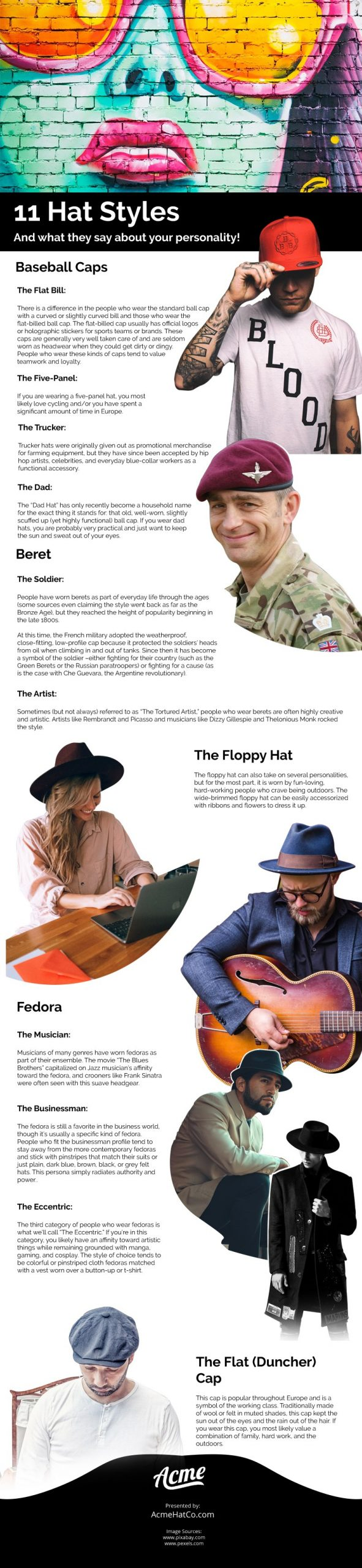 11 Hat Styles And What They Say About Your Personality Infographic