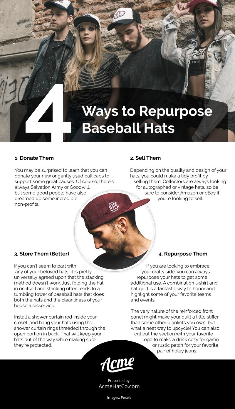 4 Ways to Repurpose Baseball Hats