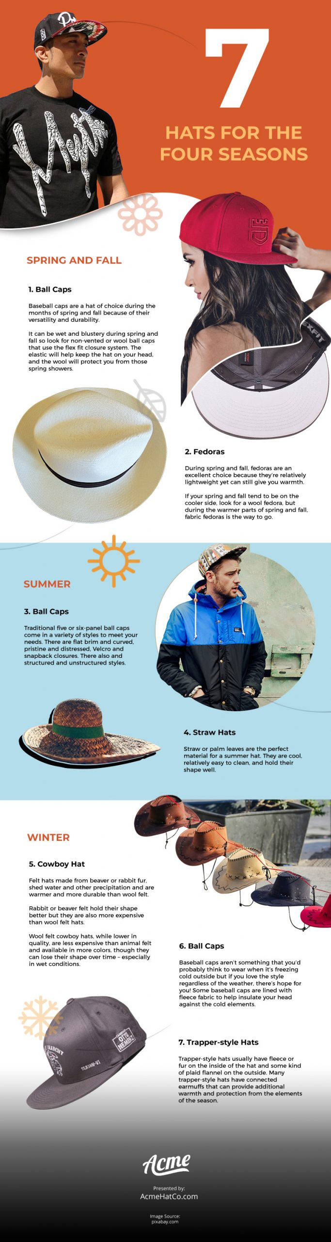 7 Hats for the Four Seasons