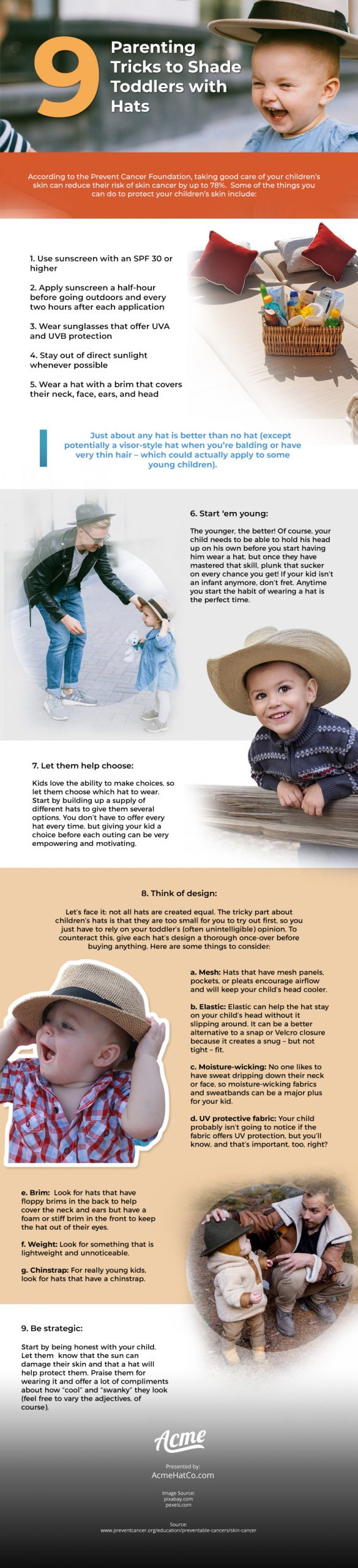 9 Parenting Tricks to Shade Toddlers with Hats