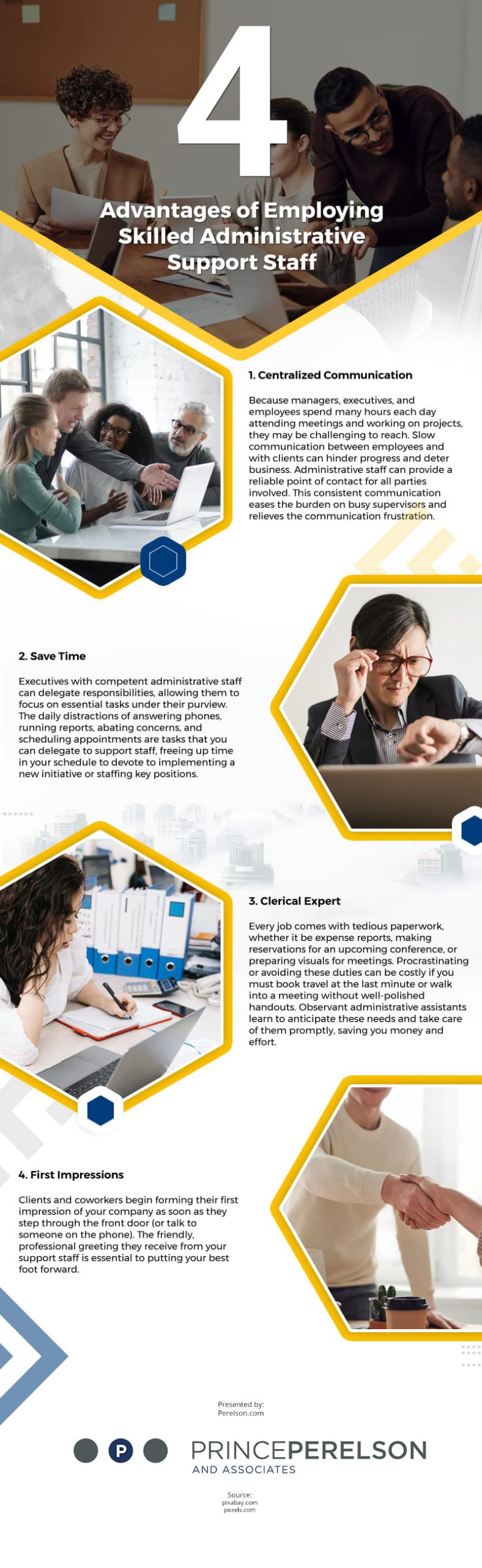 4 Advantages of Employing Skilled Administrative Support Staff Infographic