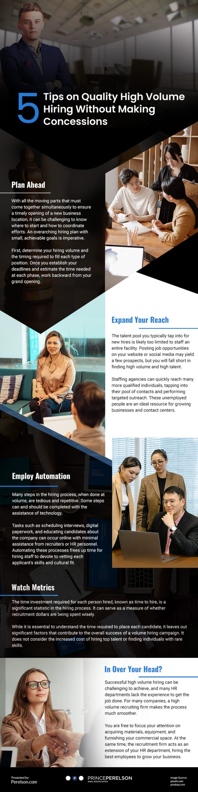 5 Tips on Quality High Volume Hiring Without Making Concessions Infographic