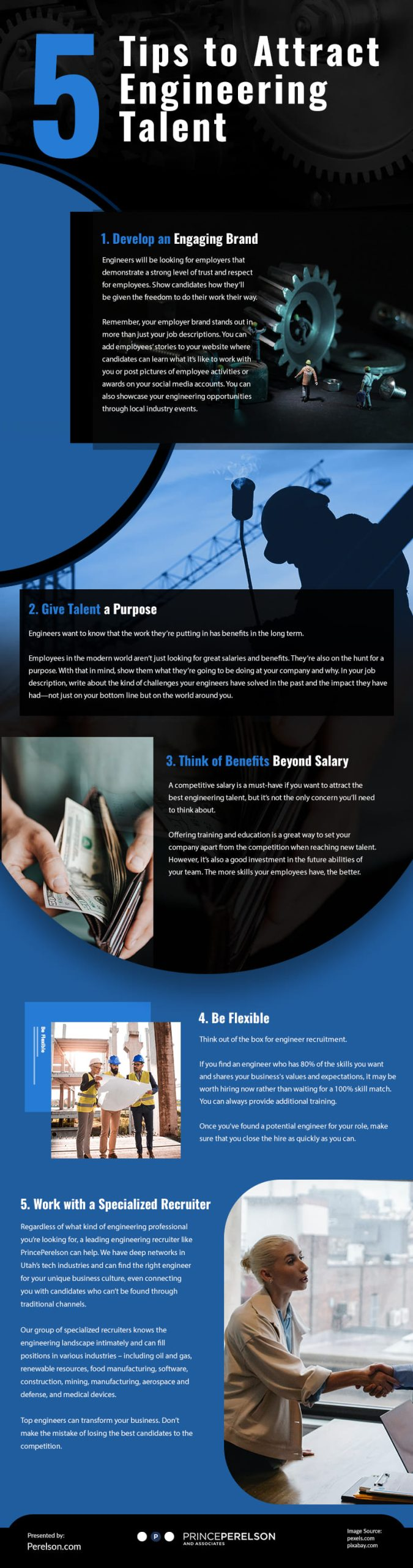 5 Tips to Attract Engineering Talent Infographic