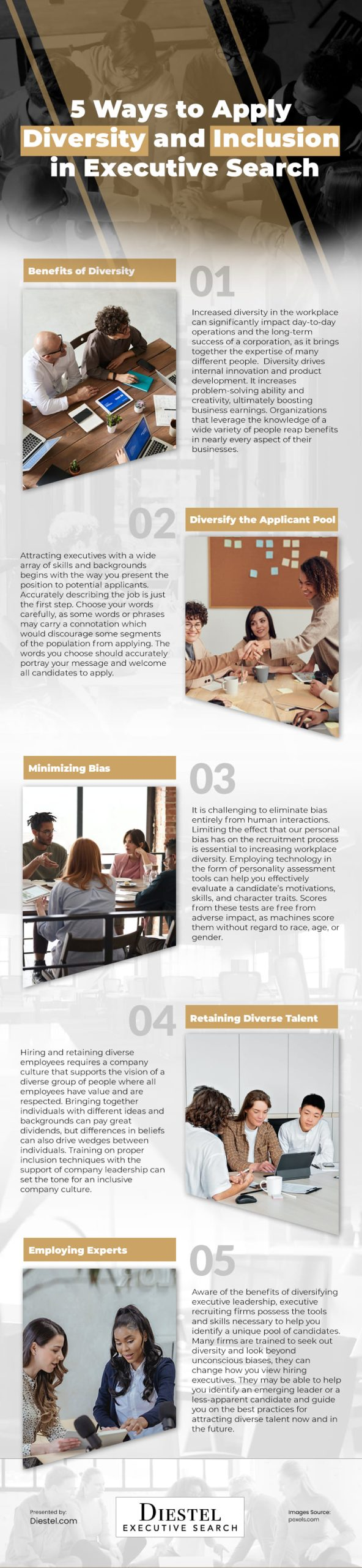 5 Ways to Apply Diversity and Inclusion in Executive Search Infographic