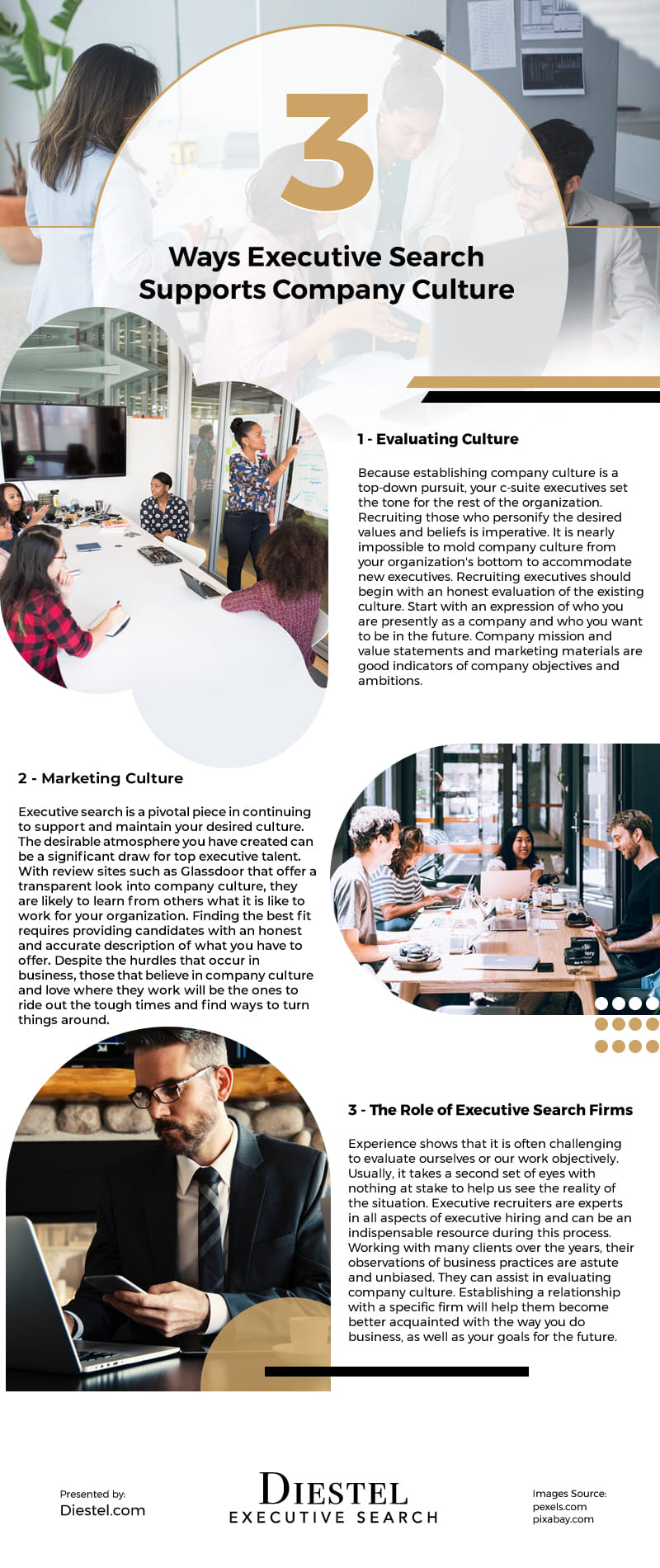 3 Ways Executive Search Supports Company Culture Infographic